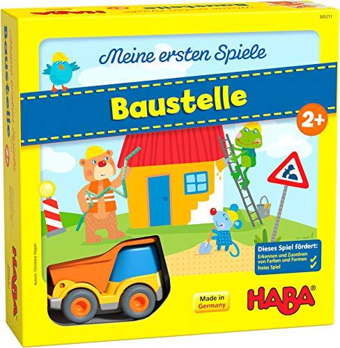 HABA 305211 - Meine ersten Spiele – Baustelle, kooperatives Memospiel mit Kullerbü-Fahrzeug und...