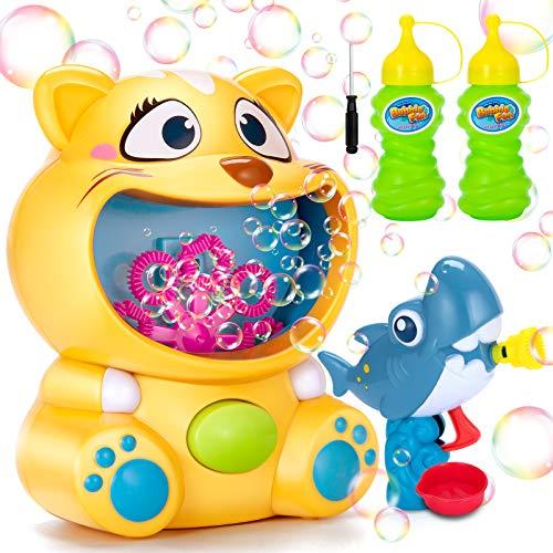 Ucradle Blasenmaschine Kinder, Seifenblasen Maschine und Seifenblasenpistole, Bubble Machine Set mit...