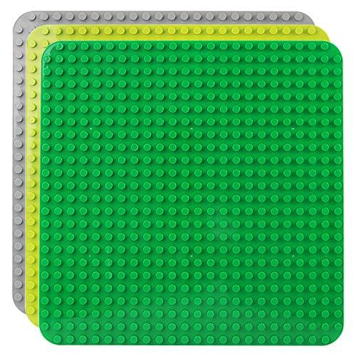 Celawork Große Bauplatte Kompatibel mit Duplo Platten,Große Grundplatte,38*38cm Platten-Set für...