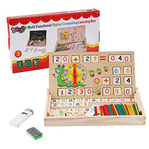 BBLIKE Montessori Mathe Spielzeug. Kinder Lernuhr Holz Lehrmittel, Spielzeug Doodle aus Holz Zeichnung,...