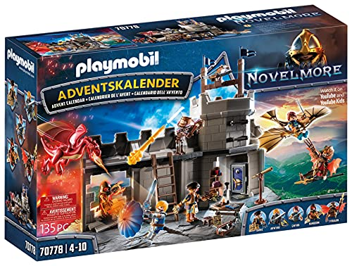 PLAYMOBIL Adventskalender 70778 Novelmore 'Darios Werkstatt' mit zahlreichen Figuren und Zubehörteilen...