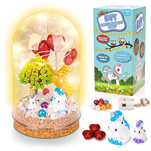 Basteln Mädchen 6 7 8 9 Jahre, Einhorn Spielzeug Bastelset Kinder 5-8 Jahre Mädchen Einhorn Geschenk...