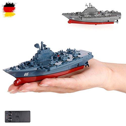 HSP Himoto RC ferngesteuertes Mini Kriegsschiff, Flugzeugträger, Schlachtschiff, Schiff, Boot,...
