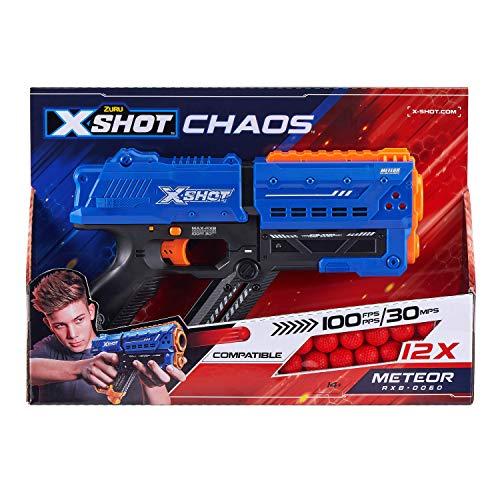 XSHOT 36282 Meteor Pistole, blau, METEOR-12 billes en Mousse