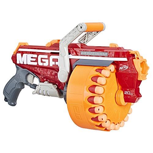 Hasbro Megalodon Nerf N-Strike Mega Blaster mit 20 Nerf Mega Whistler Darts