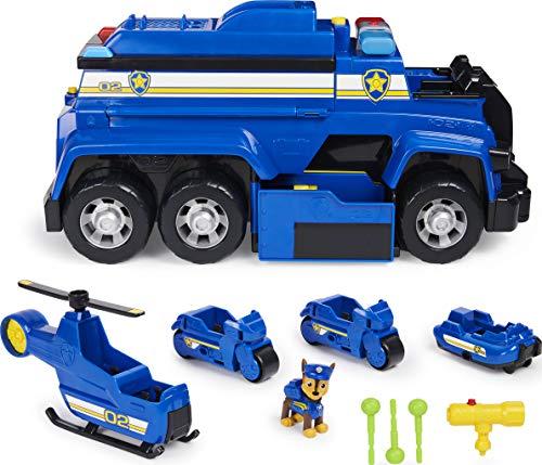 PAW Patrol 5-in-1-Polizeifahrzeug von Chase - 4 Mini Fahrzeuge plus Polizeicruiser plus Chase Figur