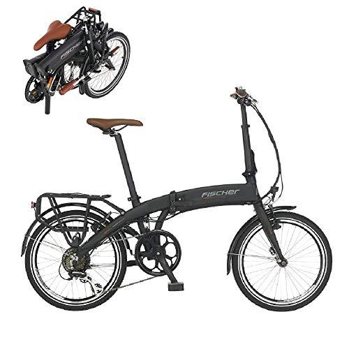 Fischer E-Bike Klapprad / Faltrad FR18, graphitschwarz matt, 20 Zoll, Bafang Hinterradmotor 25 Nm, 36V...