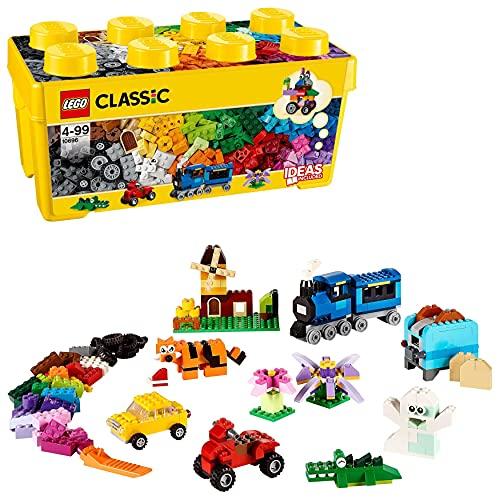 LEGO 10696 Classic Mittelgroße Bausteine-Box, Lernspielzeug, einfache Aufbewahrung, Geschenk für LEGO...