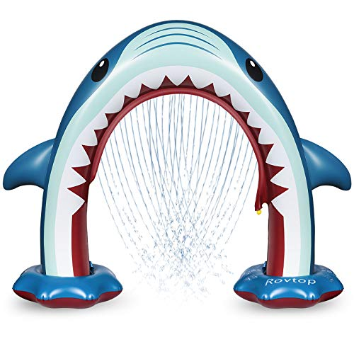 Rovtop Aufblasbare Arch Hai Sprinkler Kinder - Sommer Riesen Kinder Wasserspielzeug Outdoor für Jungen...