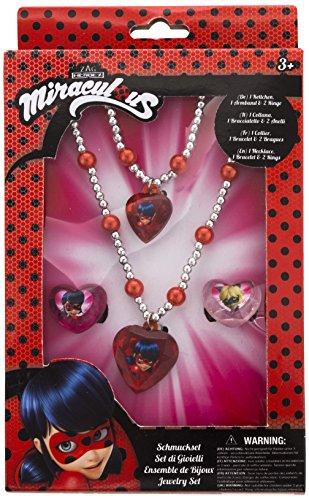 Joy Toy 65991 Figuren & Charactere Miraculous Schmuckset: 1 Perlenarmband, 1 Perlenhalskette und 2 Ringe...