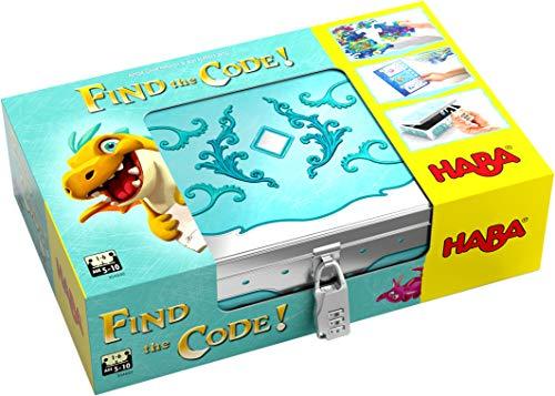HABA 304840 - Find the code! Fantasieland, Rätselspiel mit Schatzkarten-Puzzle und Schatzkiste zum...
