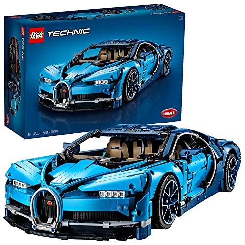 LEGO 42083 Technic Bugatti Chiron, Modellbausatz für Erwachsene, Bauset für EIN Sportwagen Modellauto,...