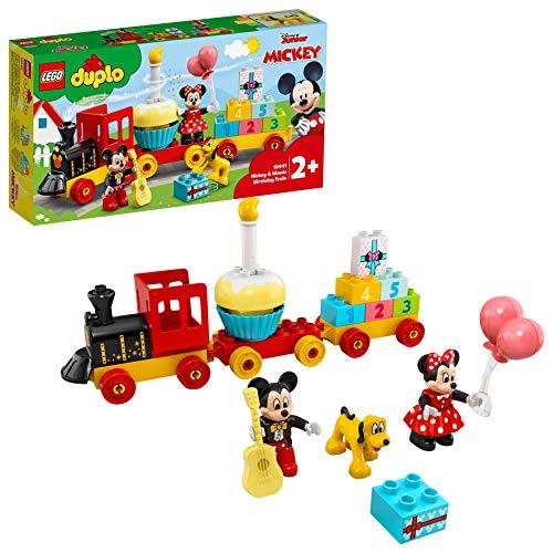 LEGO 10941 DUPLO Disney Mickys und Minnies Geburtstagszug, Spielzeug für Kleinkinder mit...