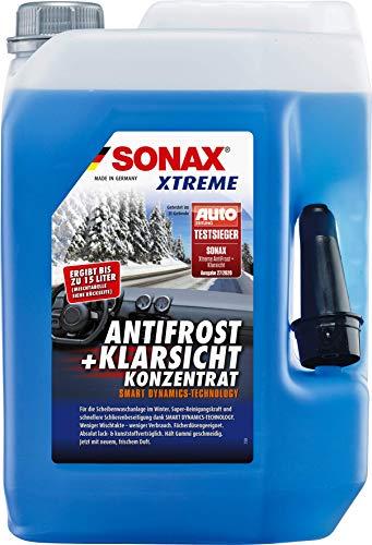 SONAX XTREME AntiFrost+KlarSicht Konzentrat (5 Liter) ergibt bis zu 15 Liter Winter-Scheibenwaschwasser,...