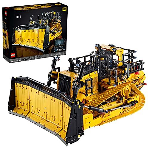LEGO 42131 Technic Appgesteuerter Cat D11 Bulldozer, Set für Erwachsene, ferngesteuertes Baufahrzeug,...