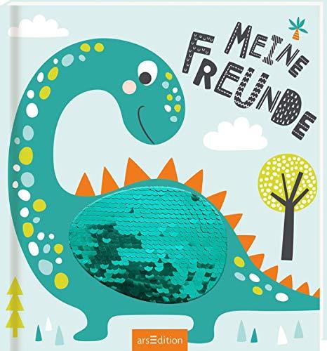 Meine Freunde - Dinos (mit Wendepailletten): Freundebuch ab 4 Jahren für Kindergarten und Kita, für...