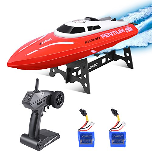 kuman Remote Control Boat, 25KM/H High Speed Waterproof Rc Racing Boat with 180º Flip Function,2.4GHz...