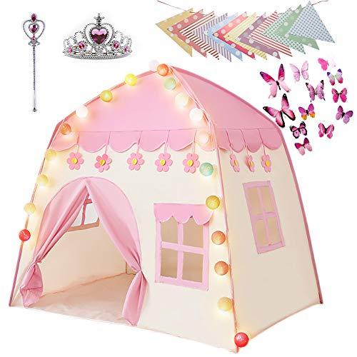 Labeol Kinderspielzelt für Mädchen Prinzessin Spielzelt Kinderzimmer für Drinnen Outdoor Sicherheit...