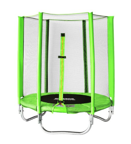 SixBros. SixJump Gartentrampolin 1,40m, Kindertrampolin inkl. Sicherheitsnetz, Outdoor-Trampolin in...