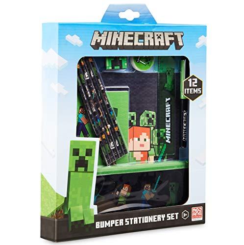 Minecraft Schulsachen, Stifte Set mit Federtasche Junge, Notizhefte, Buntstifte Kinder, Radiergummi,...