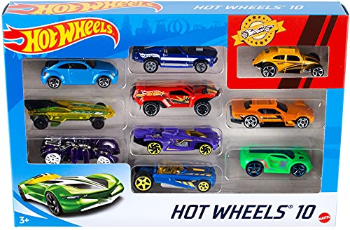 Hot Wheels - 1:64 Die-Cast Auto Geschenkset mit 10 Spielzeugautos