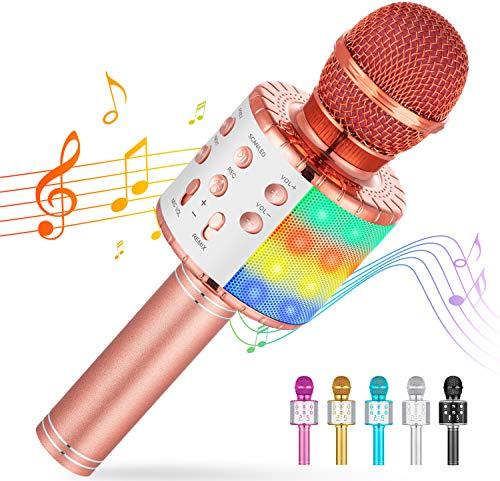 Cvozo Karaoke Mikrofon, Drahtloses Bluetooth Mikrofon für Kinder, Lustige Geschenke Spielzeug für...