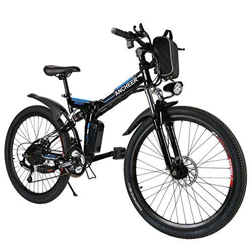 ANCHEER E-Bike Elektrofahrräder E Klapprad , 36V Akku, 26 '' faltbares Elektrofahrrad mit 250W Motor und...