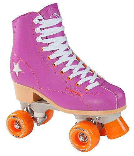 Hudora Disco Rollerskates Unisex Rollschuh, Lila/Orange, 40, 13176