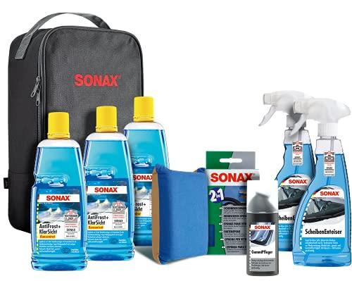 SONAX WinterSet (8-teilig) topfit, geschützt und schonend durch die kalte Jahreszeit mit hochwertigen...