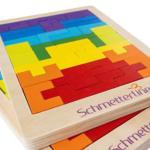 SCHMETTERLINE® Tetralino - Holz-Puzzle für Kinder ab 5 Jahre - Montessori-Spielzeug - Hochwertiges...