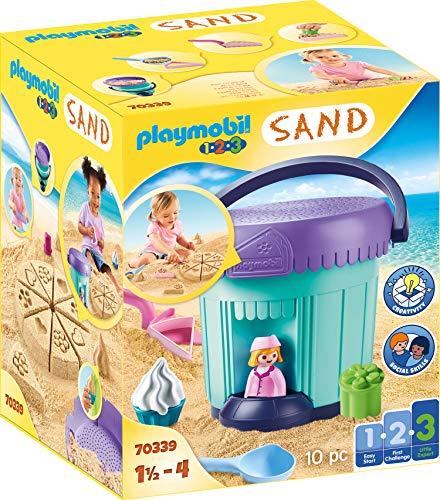 PLAYMOBIL-1.2.3 Sand 70339 Kreativset 'Sandbäckerei', Ab 1,5 bis 4 Jahre