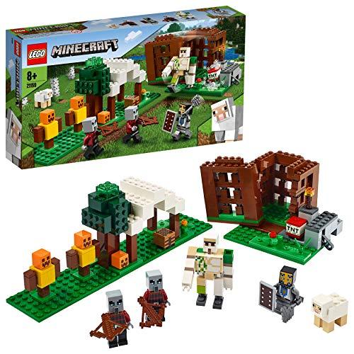 Lego 21159 Minecraft Der Plünderer-Außenposten, Bauset mit Eisengolem und Anderen Actionfiguren,...