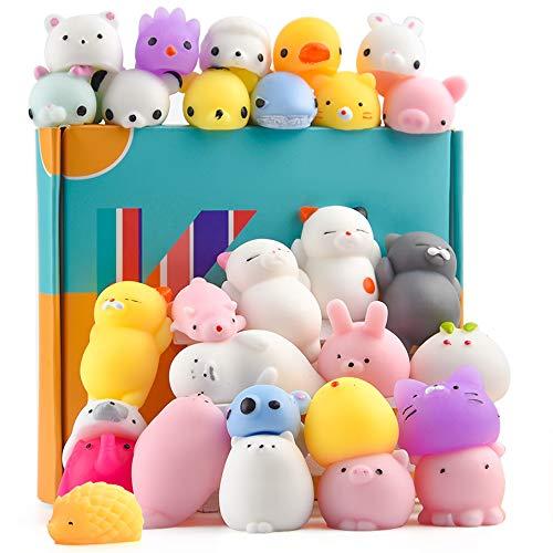 KUUQA 30Pcs Squeeze Tier-Spielzeug Squishies Osterei Füllstoffe, Spielzeug Nette Mini Panda Katze...