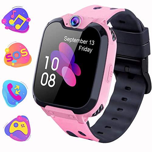 Kinder Smartwatch, Kind Uhr Telefon mit Zwei Wege Gespräch MP3 Kamera Rechner Rekorder und SOS Spiel Uhr...