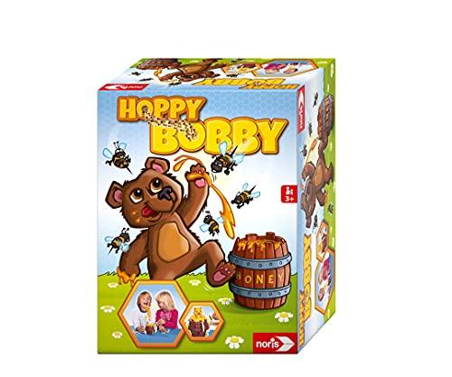 Noris 606061476 Hoppy Bobby, Der lustige Pop Up Aktion Spiele-Klassiker für Die ganze Familie, Spielzeug...