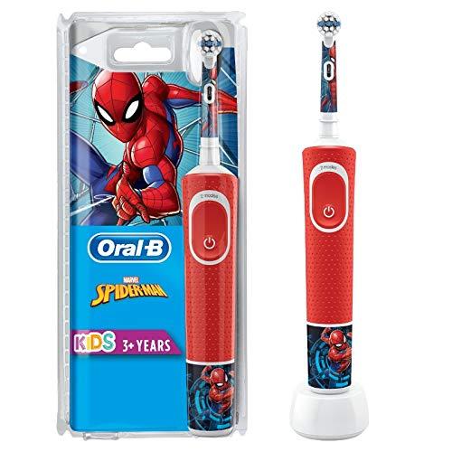 Oral-B Kids Spiderman Elektrische Zahnbürste für Kinder ab 3 Jahren, kleiner Bürstenkopf & weiche...