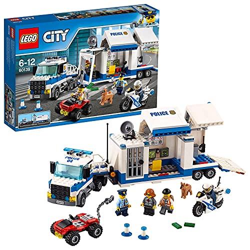 LEGO 60139 City Polizei Mobile Einsatzzentrale, Bauset, LKW-Spielzeug und Motorrad, Polizeispielzeug für...