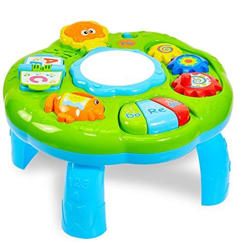 HERSITY Baby Spieltisch Musikspielzeug Spiel Lerntisch Activity Table Babyspielzeug Geschenk für Kinder...