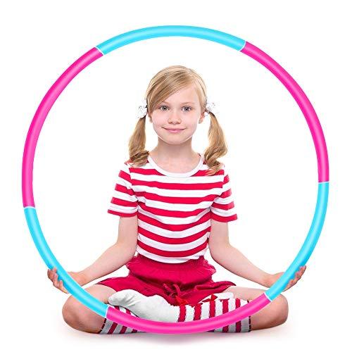 Ertisa Hoola Hoop für Kinder, Einstellbares Gewicht Hoola Hoop und größe Adjustable abnehmbare Sport...