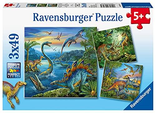 Ravensburger Kinderpuzzle - 09317 Faszination Dinosaurier - Puzzle für Kinder ab 5 Jahren, mit 3x49...