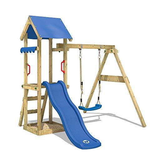 WICKEY Spielturm TinyWave Kletterturm Spielhaus mit Rutsche und Schaukel, Sandkasten und Kletterleiter,...