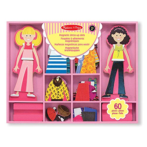 Melissa & Doug Abby & Emma Magnetic Wooden Dress-Up Dolls | Pretend Play Toy | Cognitive Skills | 3+ |...