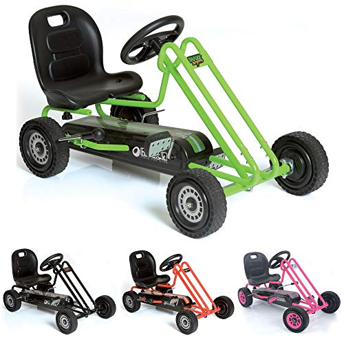 Hauck Lightning Go-Kart - Kinderfahrzeug, Reifen mit Gummiprofil, Handbremse für beide Hinterräder,...