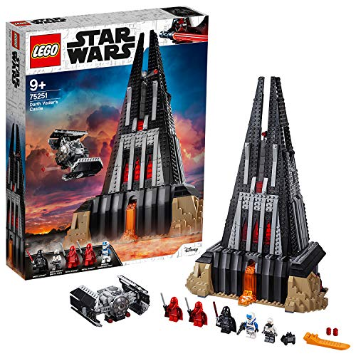 LEGO 75251 Star Wars Darth Vaders Festung Bauset mit 5 Minifiguren, Geschenk für Sammler