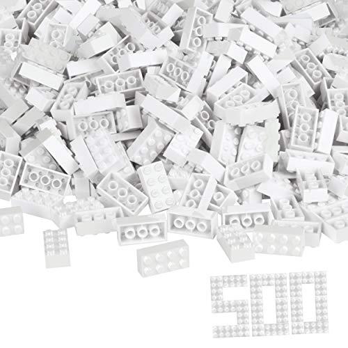 Simba 104118930 - Blox, 500 weiße Bausteine für Kinder ab 3 Jahren, 8er Steine, im Karton,...