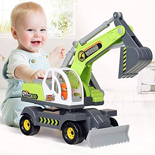 Xolye Kinder großes Trägheits-Technik-Fahrzeug-Spielzeug-Bagger Spielzeug...
