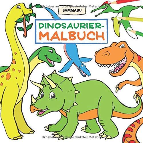 Dinosaurier-Malbuch: Das Dino-Malbuch für Kinder ab 4 Jahren
