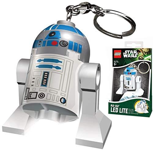 Lego LGLKE21 - Star Wars Schlüsselhänger mit Lampe R2D2, mehrfarbig