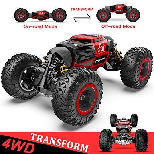 1:14 Ferngesteuertes Auto, 4WD RC-Auto für Kinder Verwandeln Schnelle Geschwindigkeit Rennen Fahrzeug,...