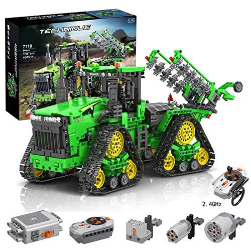 Searchyou Technic Raupentraktor Bausteine mit Motor, 1706 Teile 1/18 MOC Fernbedienung Crawler Traktor...